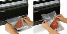 Space-saving vertical design Fully automatic operation with 2 vacuum speeds Moist/Dry food settings for optimal sealing Vacuum Sealer, Specialty Appliances, Small Kitchen Appliances, Vacuums, Easy, Food, Dinnerware, Vacuum Cleaners, Meals