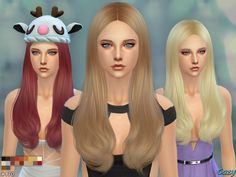 The Sims Resource: Jodie Hairstyle by Cazy - Sims 4 Hairs - http://sims4hairs.com/the-sims-resource-jodie-hairstyle-by-cazy/