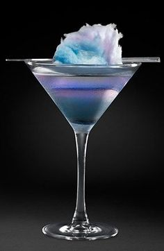 Colored Cotton Candy Cocktails #drinks #alcohol #cocktails