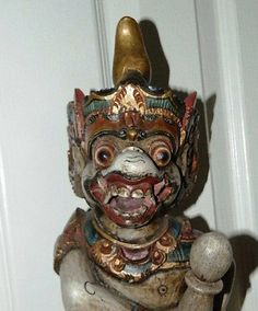 1970's Indonesian Hand Carved Monkey God Idol by TheIDconnection, $300.00