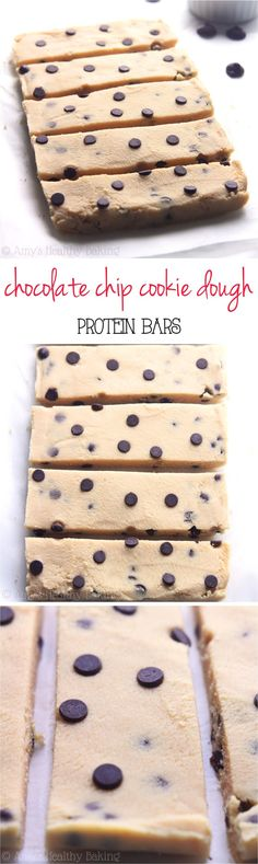 Clean-Eating Chocolate Chip Cookie Dough Protein Bars