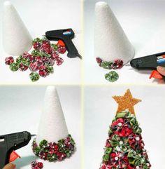 Passo a Passo Árvore de Natal de Fuxico