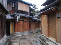 """Old streets with """"machiya"""" in Kyoto. Kyoto is one of my most favorite places in Japan"""