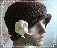Mütze mit Rose im Vintage Style