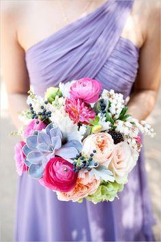 Pops of Pink Earthy Bouquet