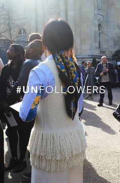 Be one of one. Join the #unfollowers and turn your back on the selfie. For fashion lovers not followers. #antiselfie