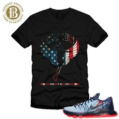 7aa54fc9e06c KD 8 USA - INDEPENDENCE DAY - KD LOGO FLAG - SS   BLK (MEN