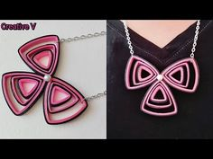 How to Make Quilling Pendant /Tutorial - YouTube