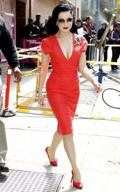 Dita Von Teese #reddress