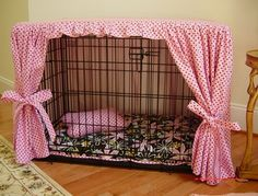 Cute Dog Crate Decor for Lily Lol! Maybe not so pink.