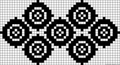 Circle dots perler bead pattern