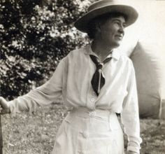Willa Cather in New Hampshire in 1917.