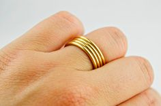 Margaret handwrapped coiled ring // audra's details on etsy