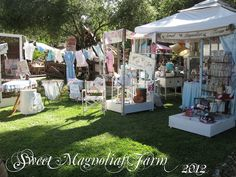 Sweet Magnolias Farm Vintage Marketplace June , 2012  Thank you to all who came and made it the best show ever.