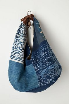 Vintage Denim Tote #anthropologie I wanna make one of my own and save $600!! Sheesh!