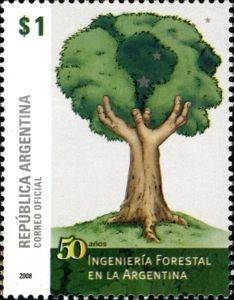 Sello: Forestry (Argentina) (50 Years of Forestry in Argentina) Mi:AR 3247,WAD:AR062.08,Gz :AR 3138