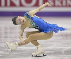 Akiko Suzuki, representing Japan, performs in the free program women's competition at the 2013 World Figure Skating Championships in London, Ontario,  March 16, 2013.