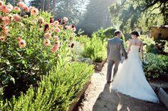I like the flower boxes. Rustic vintage california garden wedding