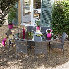 vivement l'été avec le salon de jardin 8 places en résine tressée ... - Table Et Chaise De Jardin En Resine Tressee