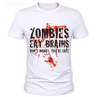 Hotsale Top Tees Zombies T Shirt Man Camisetas Zombie Hate Fast Food Tshirts  Short Sleeve O Neck Casual T-shirts