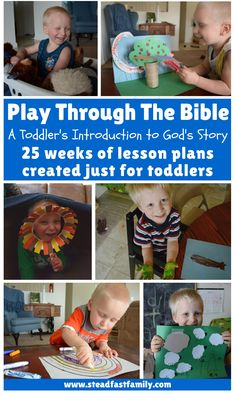 Play Through The Bible: Toddler bible stories with lesson plans and crafts, broken down into 25 weeks. Toddler Sunday School, Sunday School Lessons, Sunday School Crafts, Toddler Fun, Toddler Bible Lessons, Preschool Bible Lessons, Toddler Bible Crafts, Church Activities, Preschool Activities