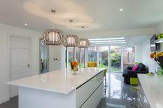 Large kitchen extension incorporating bi-folding doors