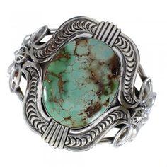 Royston Turquoise Sterling Silver Navajo Cuff Bracelet www.silvertribe.com