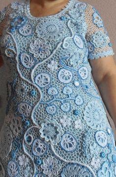 """Dress """"Snow Flowers"""" - платье """"Снежные цветы"""" (ирландское кружево Светланы Шевченко)."""
