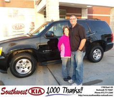 #HappyAnniversary to Toby Bowen on your 2009 #Chevrolet Truck #Tahoe from Donald Weintraub at Southwest KIA Rockwall!