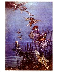 Arthur Rackham's   Fairies Along the Water