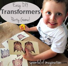 """Transformers badges - shoot all """"decepticons"""" with nerf gun or laser-pointer gun? Transformers Birthday Parties, 9th Birthday Parties, Birthday Party Games, 4th Birthday, Birthday Wishes, Birthday Ideas, Transformer Party, Rescue Bots Birthday, Diy Party"""