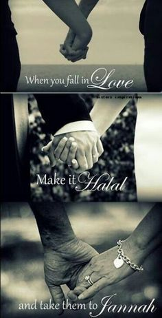 """""""What does Islam say about falling in love? Is that allowed in Islam?"""" Rasool Allah's response: Before Nikkah, a man is allowed to see the face of the woman he wants to marry. The woman has right weather she wants to marry him or not. Muslim Couple Quotes, Cute Muslim Couples, Muslim Quotes, Romantic Couples, Hadith, Alhamdulillah, True Love, Islam Marriage, Marriage Goals"""