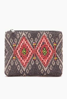 Tribal-Inspired Bead Coin Purse | Forever 21 - 1000077331
