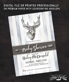 Hey, I found this really awesome Etsy listing at https://www.etsy.com/listing/290345825/rustic-deer-baby-shower-invitation-deer