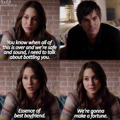 "Spencer Hatsings quote ""Essence of best boyfriend. We're gonna make a fortune."" PLL Hanna got the best!"