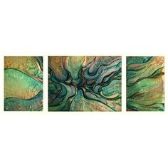 ACHICA | Victoria Stothard - Damselfly Duet I, Mixed Media on Canvas, 60x173cm