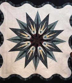 Vintage Compass, Quiltworx.com, Made by Sarah Bistline Star Quilts, Mini Quilts, Vintage Compass, Bohemian Pattern, Foundation Paper Piecing, Vintage Patterns, Quilt Patterns, Inspiration, Design