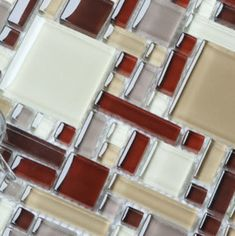 2013 New Glass Stone Metal Blend Mosaic Tile For Kitchen Backsplash Cob0056 Modern Kitchen Tile