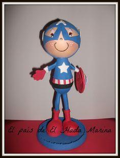 fofucho capitan america  #fofuchas #artesanias #manualidades #artesanasya