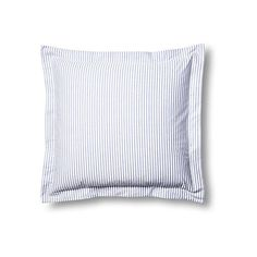 Phillimore Euro Sham Blue Shams (62 CAD) ❤ liked on Polyvore featuring home, bed & bath, bedding, bed accessories, european sham, blue shams, european pillow shams, blue stripe bedding and cotton pillow shams