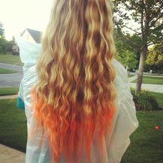 Food coloring hair dye!!!