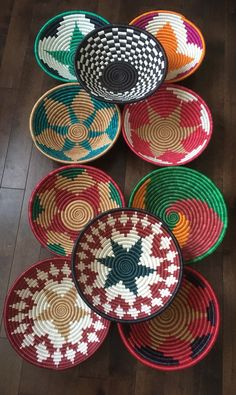Your place to buy and sell all things handmade : Excited to share this item from my shop: handwoven baskets-boho woven baskets-Africa woven baskets-rwanda woven basket - grouping woven baskets African Interior, African Home Decor, Baskets On Wall, Woven Baskets, Decorative Baskets, Wall Basket, Basket Weaving, Hand Weaving, Vintage Baskets