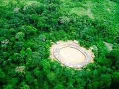 Vista aérea da aldeia Demini do povo Yanomami, Amazonas. Foto: Marcos Wesley