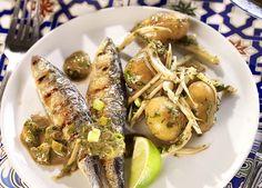 Sardines met krieltjes op Portugese wijze