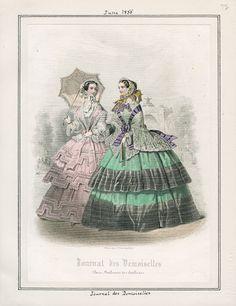 Journal des Demoiselles, June 1855. LAPL Visual Collections.