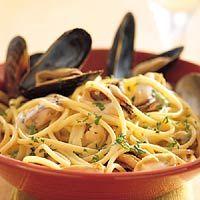 Recept - Spaghetti met mosselen en witte wijn - Allerhande