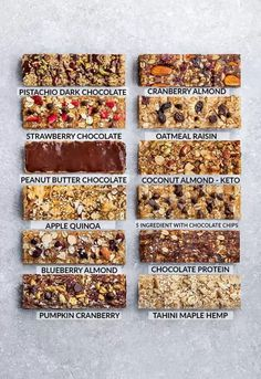 Homemade Granola Bars - 12 Ways - Switch up your snack lineup with these healthy.,Healthy, Many of these healthy H E A L T H Y . Homemade Granola Bars - 12 Ways - Switch up your snack lineup with these healthy on-the go snacks. Healthy Granola Bars, Healthy Protein Snacks, Healthy Bars, Homemade Protein Bars, Homemade Kind Bars, Healthy Homemade Snacks, Vegan Protein Bars, Sugar Free Protein Bars, Healthy Snacks For School