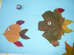 leaf fish - autumn crafts. Not that we get leaves like this in FL!
