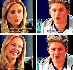 HAHAH I CANNOT GET OVER HIS FACE.  BUT SERIOUSLY I. Wouldn't have said that. I would've been all like. (Ghetto voice) niall you gong yeah gong be my boo thang.  Now goobye. Text me latah boo.