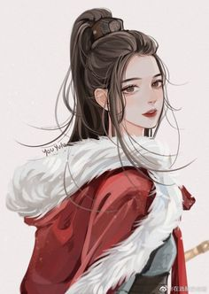 Dark Anime Girl, Anime Art Girl, Anime Chibi, Manga Anime, Cute Couple Drawings, China Art, Anime Couples Manga, Cute Anime Guys, Pretty Art